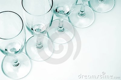 Hazy Row Of Glasses Stock Image - Image: 1849721