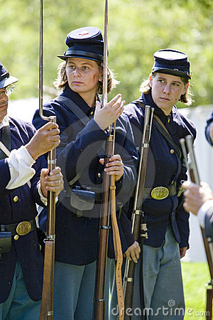 HB Civil War Re-Enactment 42 - Women Re-enactors Editorial Image