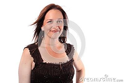 Hübsche Frau in ihren Vierzigern