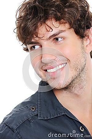 Hübscher Kerl mit toothy Lächeln