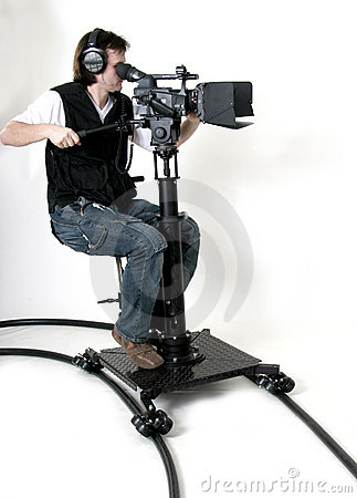 HD-camcorder on the dolly