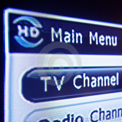 HD Digital Television Menu