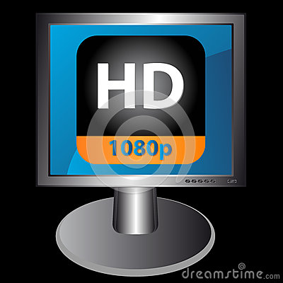 Hd icon in monitor