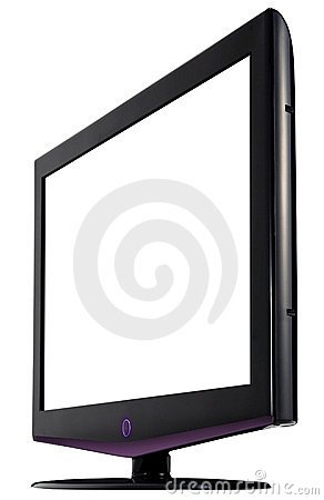 Free HD Television. Isolated Royalty Free Stock Photo - 13767945