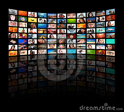 Free HD TVs Showing Movie Stock Photo - 8822010