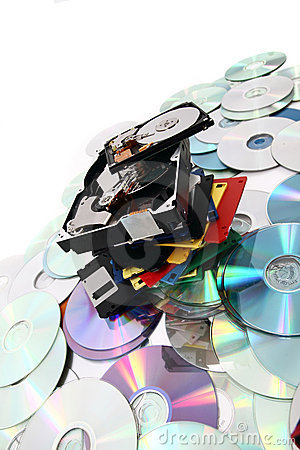 Free Hdd, Floppy, Dvd And Cd-rom  Data Background Royalty Free Stock Images - 19666619