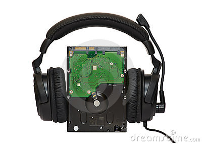 HDD With Headphones Stock Photo - Image: 24253670