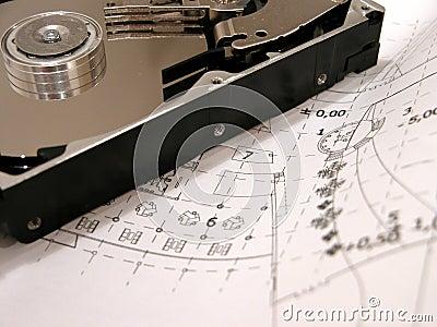 HDD sur les croquis de mise au point