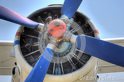 HDR Antonov 2 Plane Propeller engine detail