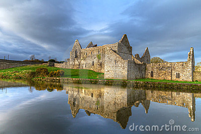 HDR of Askeaton Friary with reflection