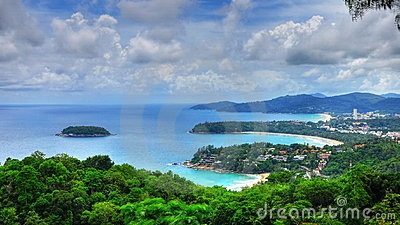 HDR of bays and island in PHuket