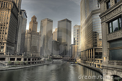 HDR of Chicago in the Early Morning