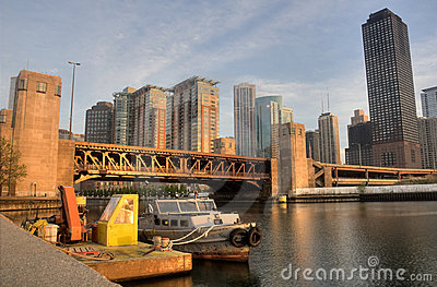 HDR of Early Morning in Chicago