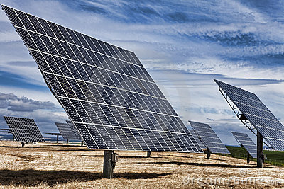 HDR Green Energy Photovoltaic Solar Panels