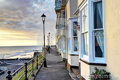 HDR of houses by the sea in England