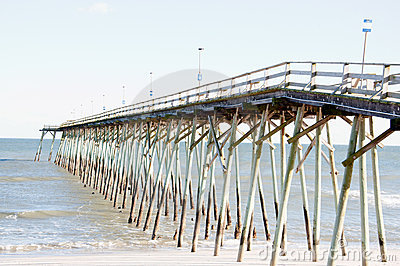 HDR Image of Pier in Carolina Beach, NC