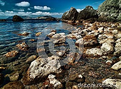 HDR image with sea coast