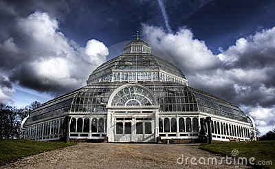 HDR image of Sefton Park Palm house Liverpool