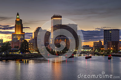 HDR image of the skyline of Providence, RI