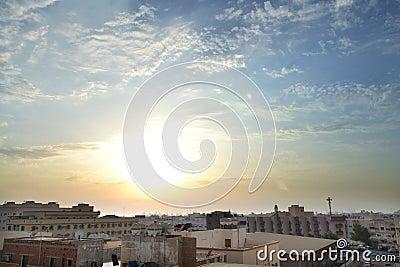 HDR Jeddah at sunset
