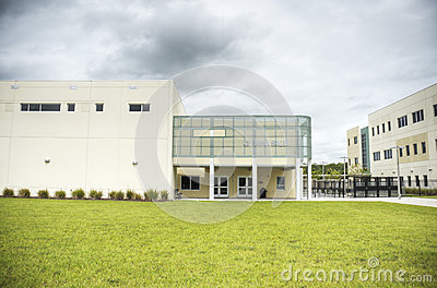 HDR of Middle School Gymnasium