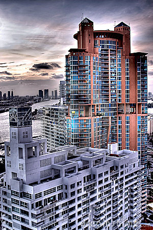 Free HDR Of Florida Buildings Royalty Free Stock Image - 4581936