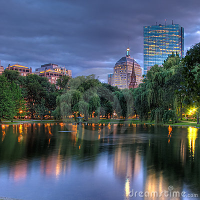 Free HDR Of Sunset Over Boston S Copley Square Royalty Free Stock Image - 11758336