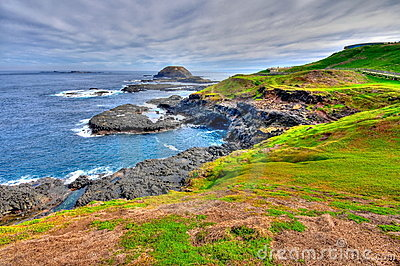 HDR of Phillip Island coastal area