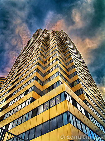 Free HDR-photo Of Skyscraper And Clouds Stock Photo - 4412460