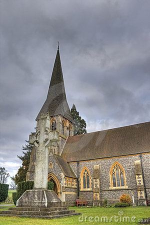 HDR photo of old church in England