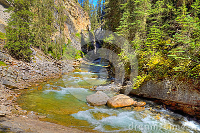 HDR River in the Canadian Rockies