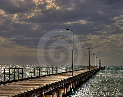 HDR of Rosebud Pier