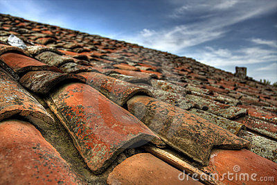 HDR shot from an old roof tiles