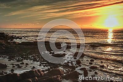 Hdr sunrise moreton bay brisbane