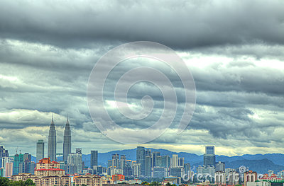 HDR view of KL City