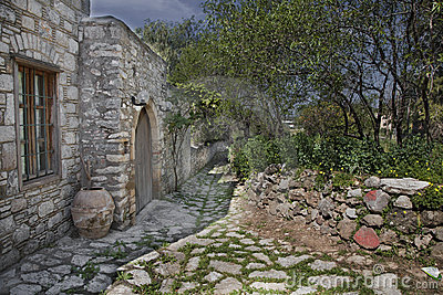 HDR View of Stone city Datca