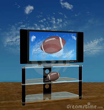 Free HDTV Football In Fall Sky Stock Image - 2941391