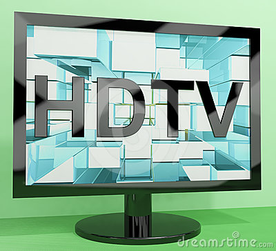 HDTV Monitor Representing High Definition