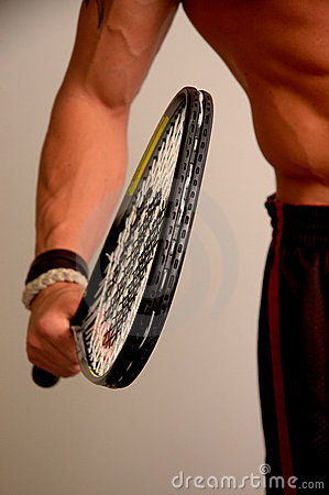 Free He S Got Himself A Racquet Stock Photography - 961942
