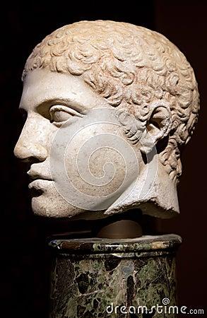 Head of an ancient Greek statue