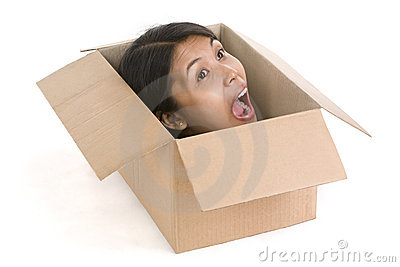 Head in box series - screaming