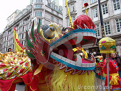 Head of Chinese Dragon dancing