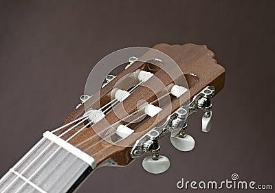 Head of a classical guitar