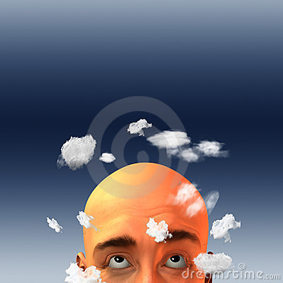 Head in clouds