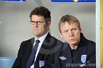 Head coach of England, Fabio Capello Editorial Stock Photo