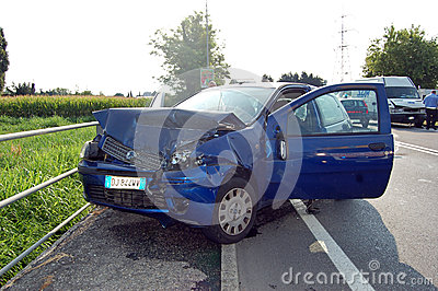 Head-on collision Editorial Stock Photo