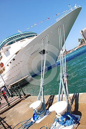 Head of a Cruise Ship Editorial Photography