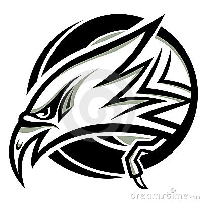 Head eagle vector