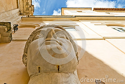 Head of emperor Constantine the Great in Rome