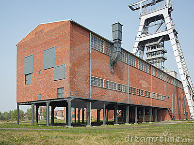 Head-frame and a building in a coal mine